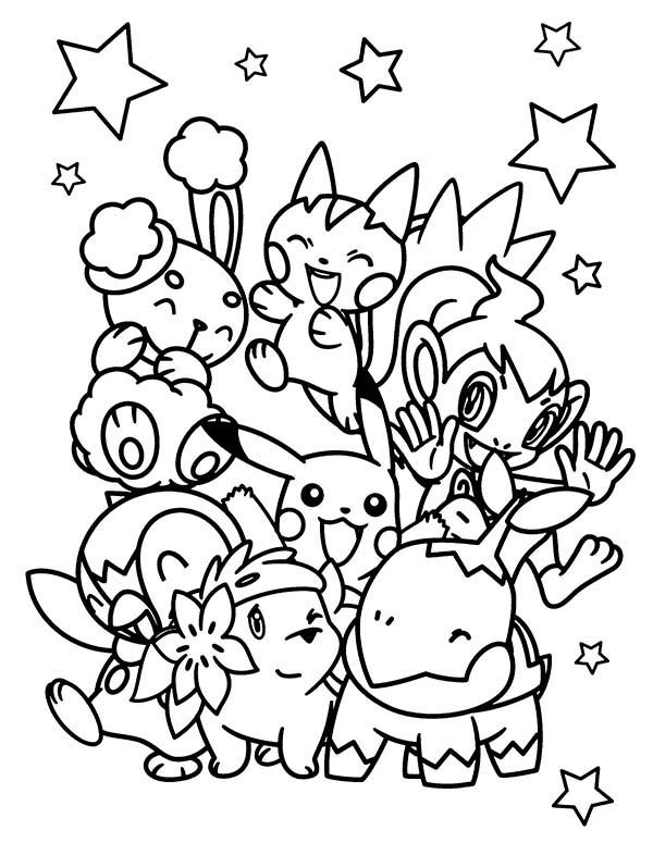 Pokemon all character coloring pages sketch coloring page for All pokemon coloring pages