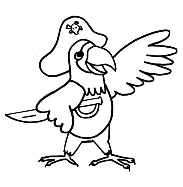 Pirate parrot coloring pages - photo#54