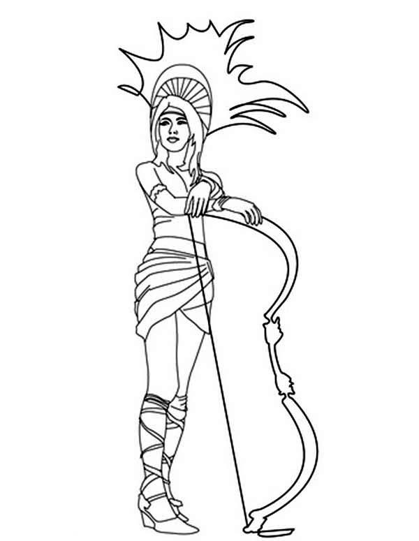 Aztec Princess Coloring Pages Coloring