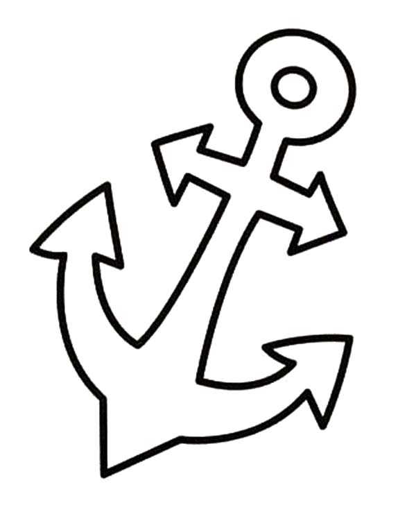 Anchor coloring pages kids sketch coloring page for Anchor coloring page