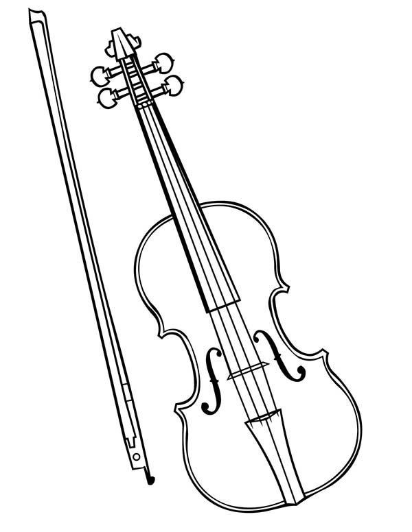 Violin - Free Coloring Pages